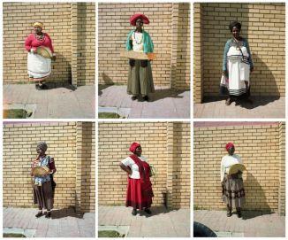 Tommaso Fiscaletti. The women of Dunoon, Cape Town. 2014, installazione (6 pezzi)