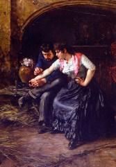 Vincenzo Migliaro, Il tatuaggio, 1890, olio su tela, cm 102x66_mostra I capolavori
