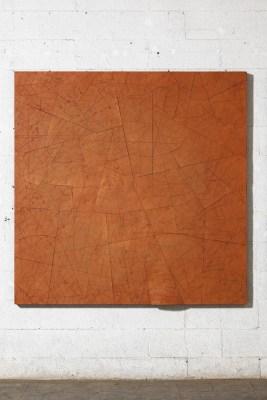 Luigi Mainolfi, Tobaco, 2010, terracotta, 160x160 cm