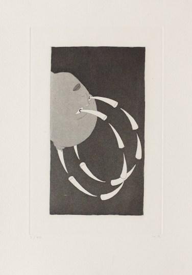 Markus Raetz, Défense d'y voir I, 1980, acquaforte e acquatinta, 380x270 mm, Kunstmuseum Bern, Hermann und Margrit Rupf Stiftung © 2016 Markus Raetz, Prolitteris, Zürich