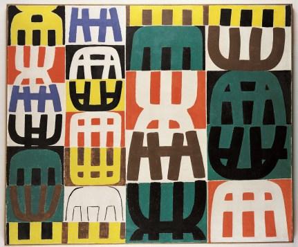 Giuseppe Capogrossi, Superficie 295, 1958, olio su tela. Collezione privata