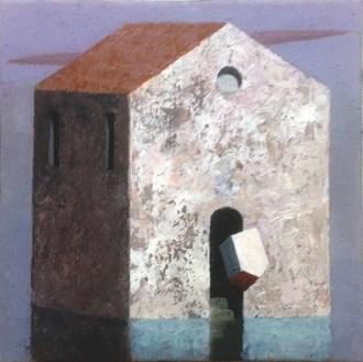 Matthias Brandes, Casone, 2016, olio e tempera su tela, 15x15 cm