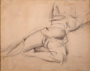 Umberto Boccioni, Nudo, 1914, matita e acquerello su cartoncino, 48.5x60.5 cm, Collezione Olgiati, Lugano