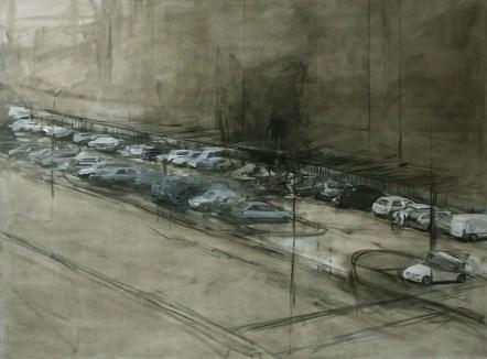 Juraj Kollár, Street, 2009, olio su tela