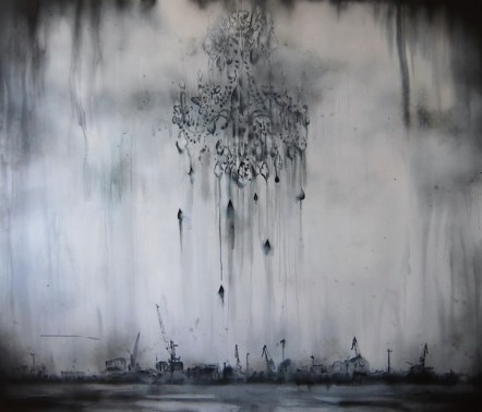 Lucia Tallová, Winter Harbour, 2013, acrilico su tela