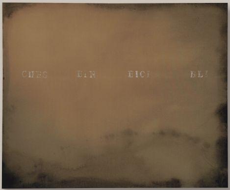 Alfredo Rapetti Mogol, Che sei nei cieli, 2015, acrilico e bitume su tela, 90x110 cm