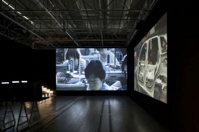 Lavoro in movimento. Lo sguardo della videocamera sul comportamento sociale ed economico, veduta della mostra (Chieh-Jen e Kazma), Mast Gallery, Bologna