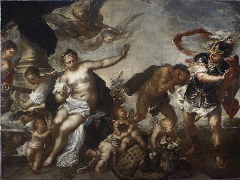 Luca Giordano, Allegoria della Pace e della Guerra, 1680, olio su tela, 226x303 cm, Genova, Galleria Nazionale di palazzo Spinola