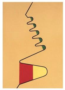 Mario Nigro, Ritmo verticale, 1948, olio su tavola, 79.5x56 cm Courtesy A arte Invernizzi, Milano
