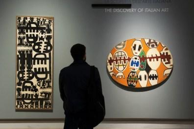 New York New York. Arte italiana. La riscoperta dell'America, veduta della mostra (Capogrossi), Gallerie d'Italia, Milano Foto di Maurizio Tosto