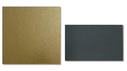 Sonia Costantini, LC14-21 BRONZO - VERDE SCURO (serie ICONE), 2014, acrilici su tela e tavola, 24x24 cm e 15x24 cm