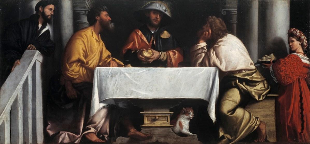 Alessandro Bonvicino detto il Moretto, Cena in Emmaus, 1527 circa, olio su tela, cm 145.5x305, Brescia, Pinacoteca Tosio Martinengo © Fondazione Brescia Musei