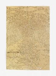 Elisabeth Scherffig, F.F., 2011, stampa su carta e foglia oro, 44.5x33.5 cm