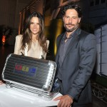 Model Alessandra Ambrosio and actor Joe Manganiello attend the RIMOWA celebration the arrival of the JU52 Aircraft at Westchester Country Airport (Photo by Theo Wargo/Getty Images for RIMOWA)