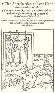 Anon; (1589) The apprehension and confession of three notorious witches. Arreigned and by iustice condemned and executed at Chelmes-forde, in the Countye of Essex