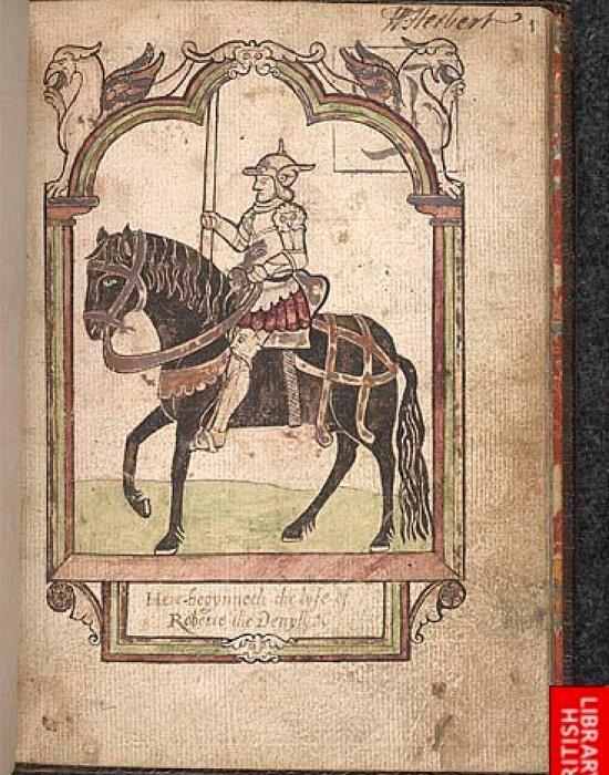 The romance poem Roberte the Devyll