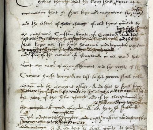 Coronation Oath of Henry VIII