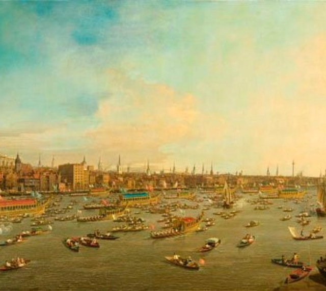 Canaletto's River Thames on Lord Mayor's Day 1746