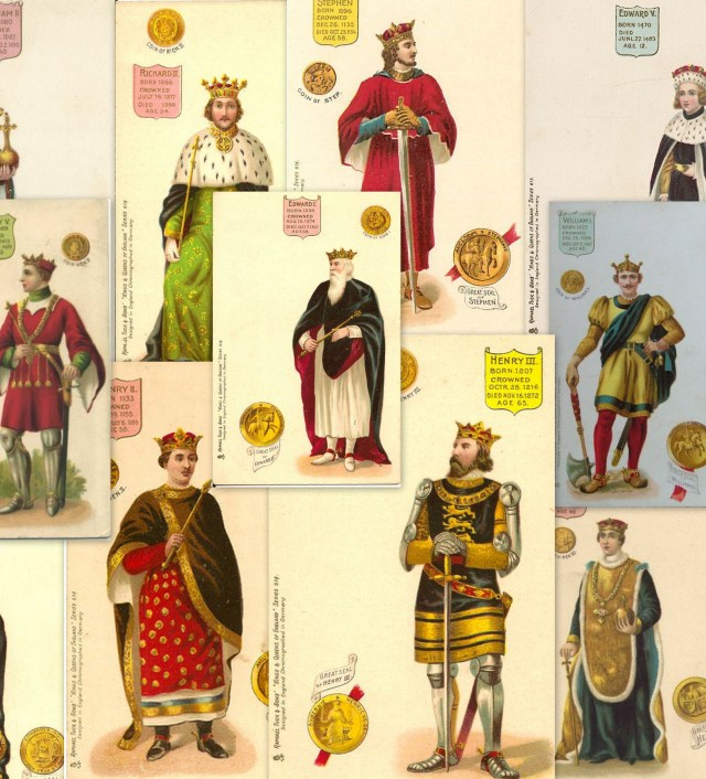 Tuck's Kings & Queens Postcards - Normans to Plantagenets