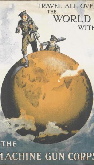 WW1 Propaganda Poster - Machine Gun Corps