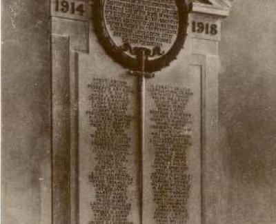 War Memorial in Great Dunmow's church
