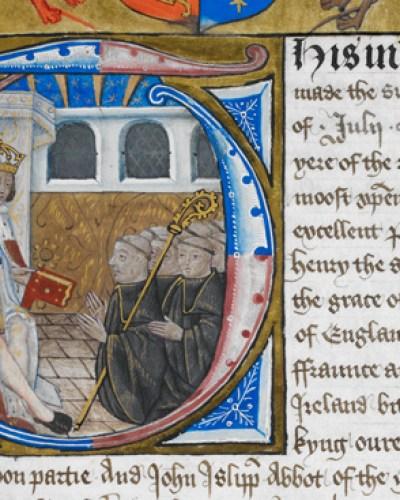 Harley 1498 f.98 Henry VII