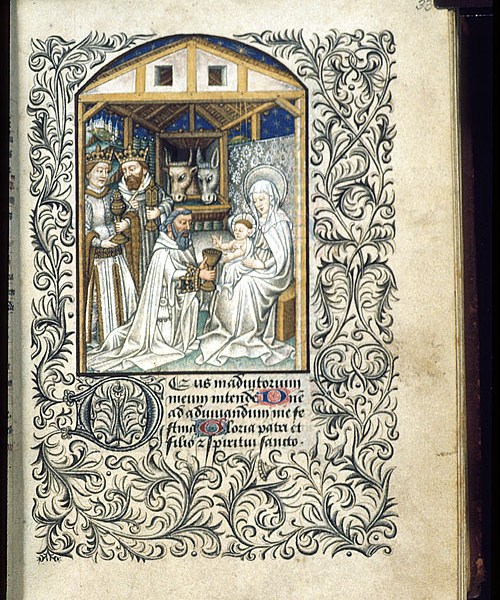 Harley 2915 f.33 Adoration of the Magi