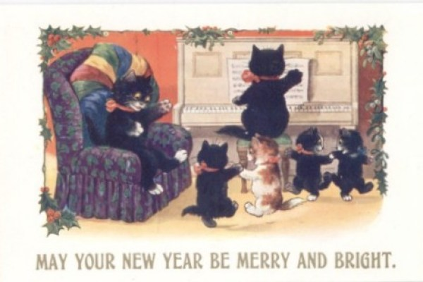 Inter Art Black Cats postcard
