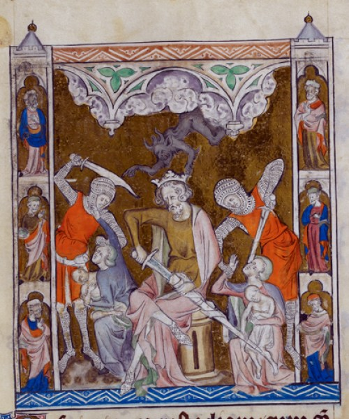 Royal 2 B VII f.132 Massacre of the Innocents
