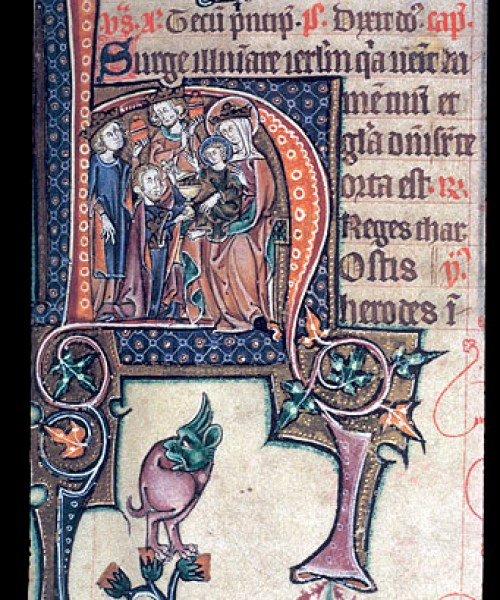 Stowe 12 f.40 Adoration of the Magi
