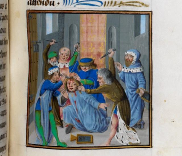 Royal 17 F II f.344 Murder of Caesar