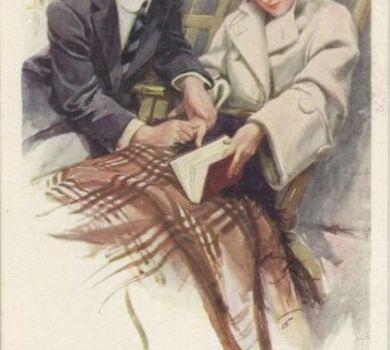 Harrison Fisher - Wedding postcards