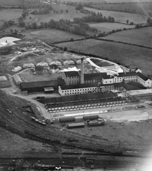 Little Dunmow from the air, 1928