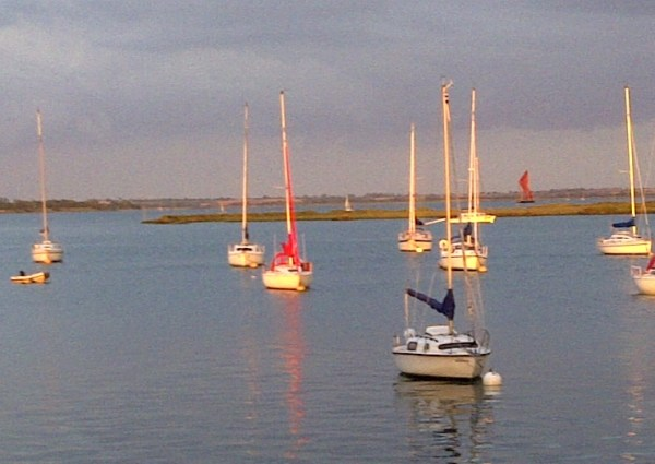 Sailing boats in Heybridge