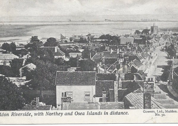 Osea and Northey Island from Maldon