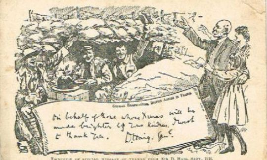 Postcards from the Front: Britain 1914-1919 - Christmas card to the troops from General Haig