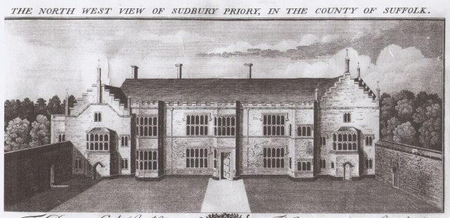Sudbury Priory's remains in 1748
