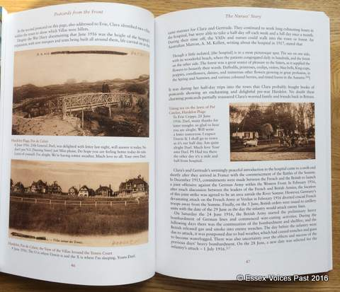 The Nurses' Story: Part of the story of Clara and Gertrude, told through the eyes of Clara in her postcards home during the Battles of the Somme