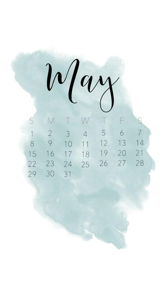 may calendar background