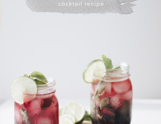 Try this perfect end-of-summer cocktail. Hibiscus mojitos are the perfect marriage of tangy and refreshing that all will enjoy! \\ Essie Does Summer