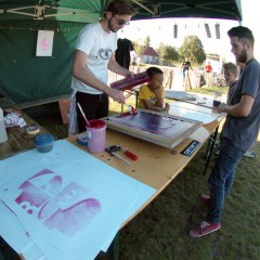 Atelier Sérigraphie Bowl Attack 2014