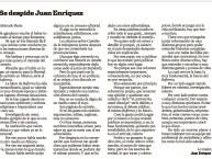 Juan Enríquez se despide del Reforma