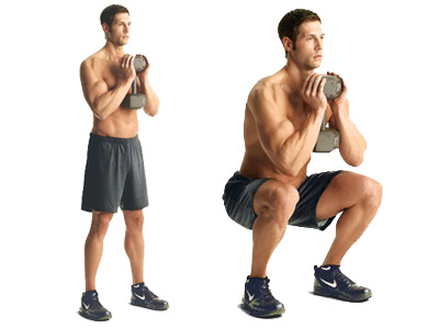 Body Weight Deep Goblet Squat Back Pain Erg Rowing