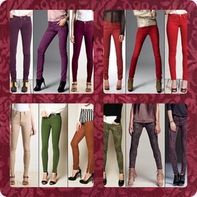 Los jeans de colores, nueva tendencia para mujer Otoño-Invierno 2012-2013