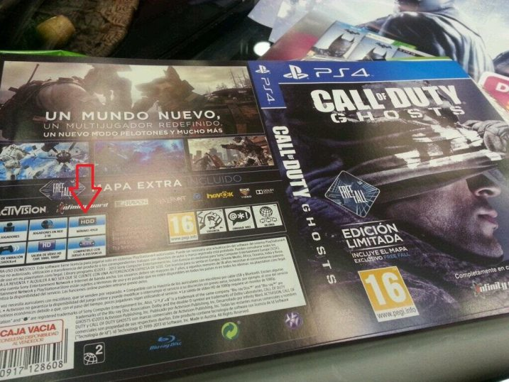 Call of Duty Ghosts HDD Space