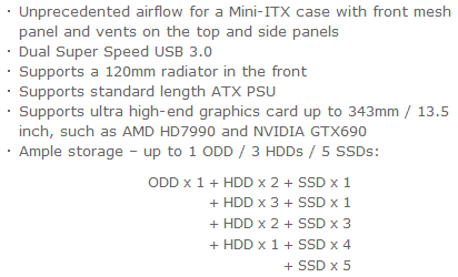 Cooler Master Elite 130 Specifications