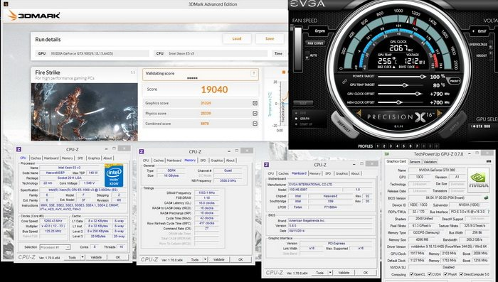 980 gtx core speed 2050mh and 3dmark