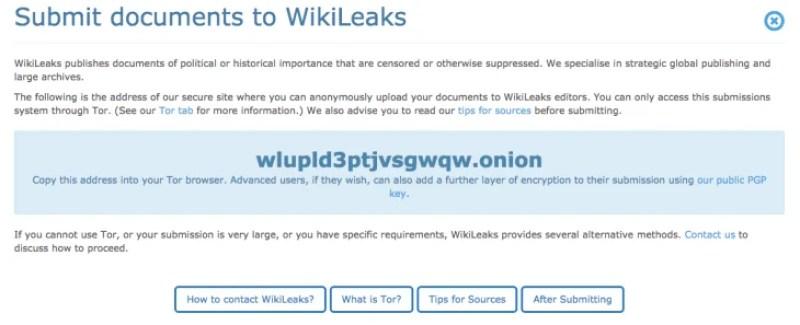 wikileaks drop