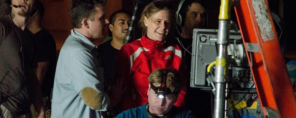 "Sarah Doyle, directing the sci-fi short ""You Me & Her"""