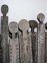 Wooden vigango statues